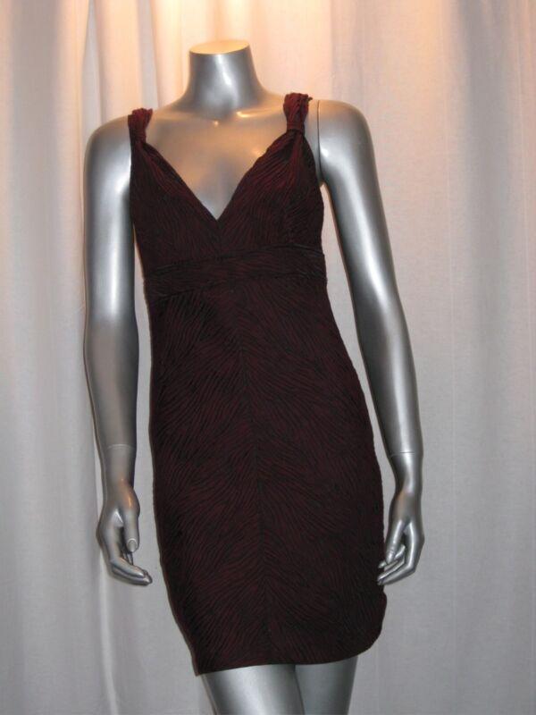 $138 MSSP MAX STUDIO Black & Red Zebra Print V Neck Mini Dress sz XS NWT