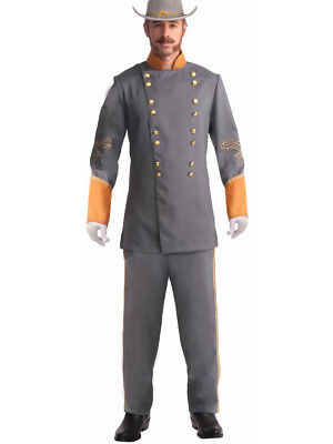 Adult Southern Grey Civil War Officer Soldier Costume