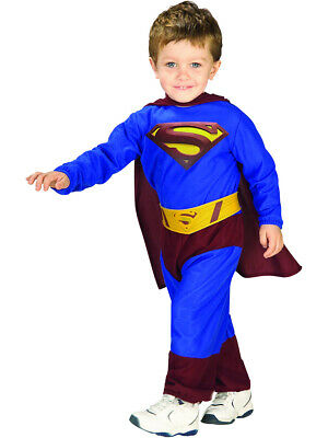 New Superman Super Man Returns Costume Toddler Baby 2-4 - Infant Superman Costume