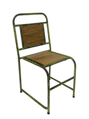 Silla Del Recliner Mueble Asiento Vintage En Diseño Retro de Metal Verde...