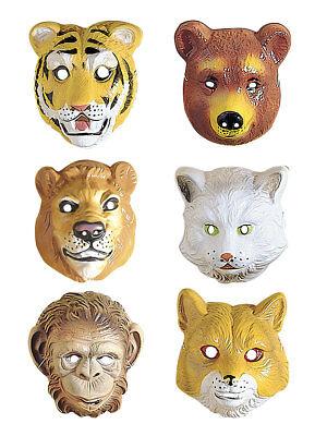 Gesichtsmaske für Kinder Tier Accessoires Kostüm Fasching - Tier Maske Kostüm
