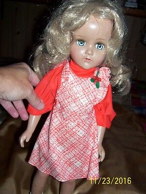 "VINTAGE R&B (ARRANBEE) COMPOSITION NANCY LEE 18"" DOLL BLONDE HAIR NICE OUTFIT!!"