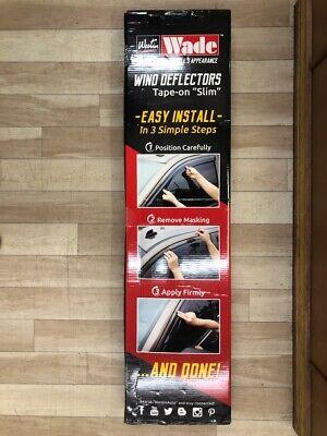 Westin Wade Wind Deflectors 72-39434 Slim Smoke 4pc Chevy GMC Malibu