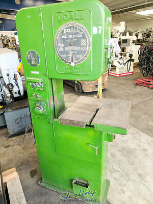 16 Used Doall Vertical Contour Bandsaw V-16 A4325