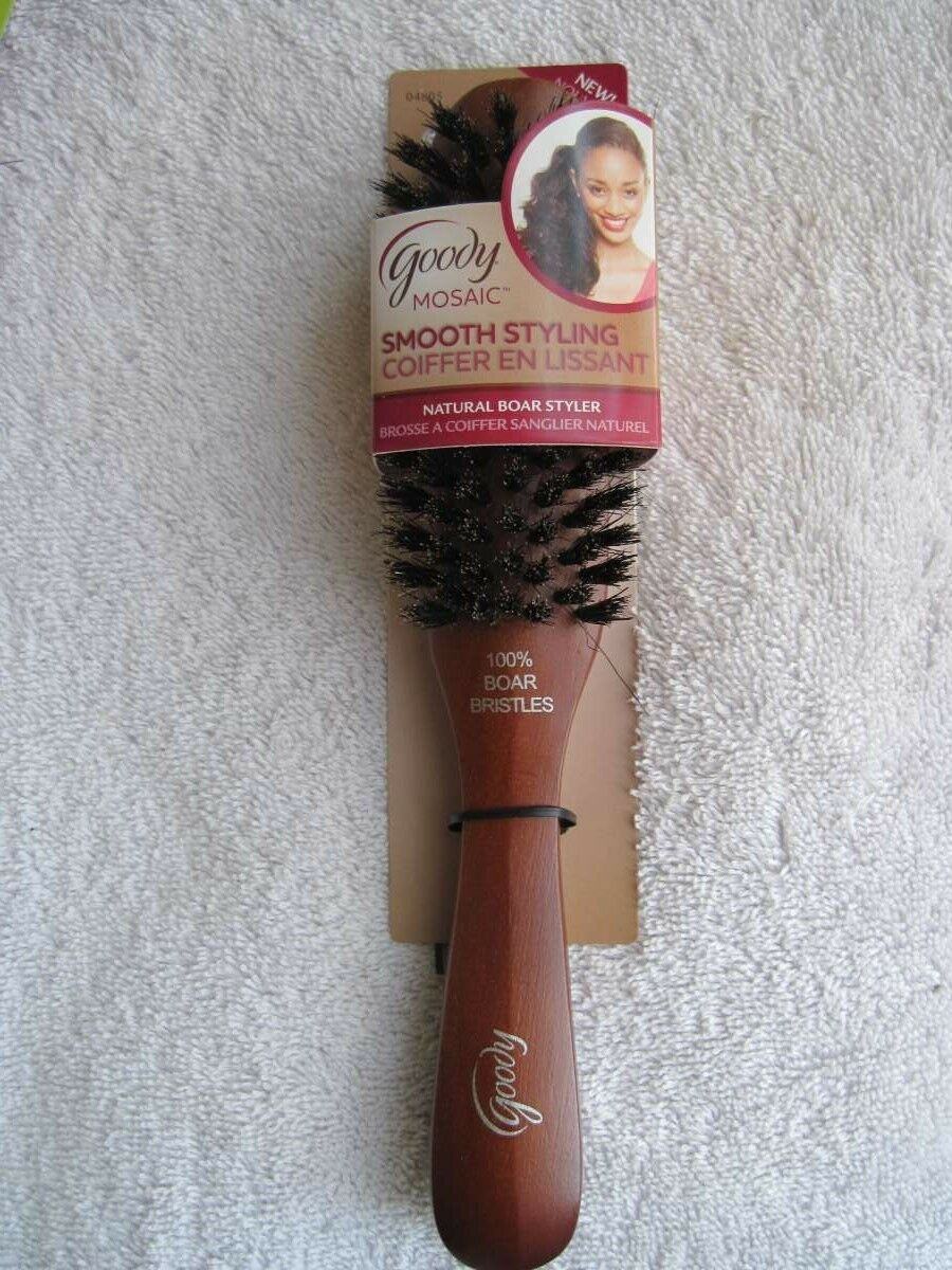 Goody Get it Straight Natural Boar Bristles Ceramic Round Ha