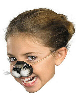 Child Rubber Costume Black Cat Kitten Zoo Animal Nose Elastic Band Mask