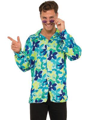 Men's 70s Groovy Dancing Dude Floral Disco Shirt Costume - Mens 70s Disco Costumes