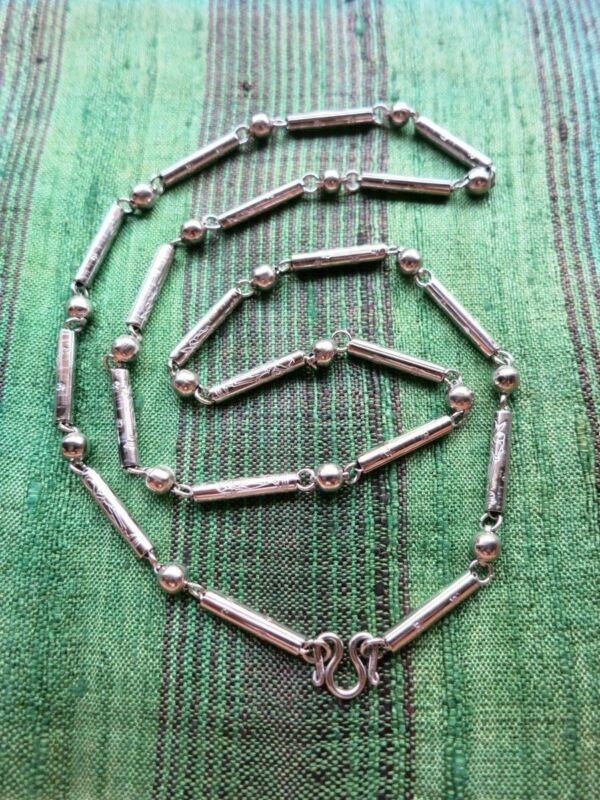 """Incredible """"Buddhist Monk Walks w Stick"""" Stainless Steel Amulet Chain/Necklace"""