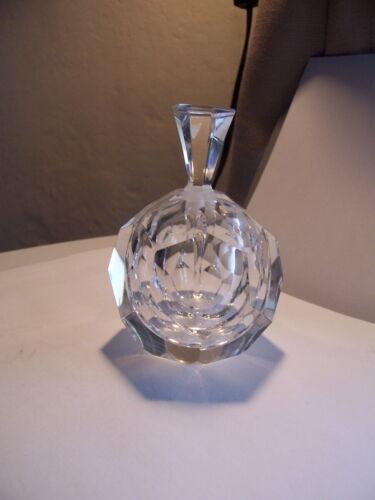 Vintage Kosta facet Cut Crystal Perfume Scent Bottle  Lindstrand Sweden Signed