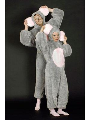 Kostüm für Erwachsene Overall Maus Karneval - Graue Maus Kostüm Für Erwachsene