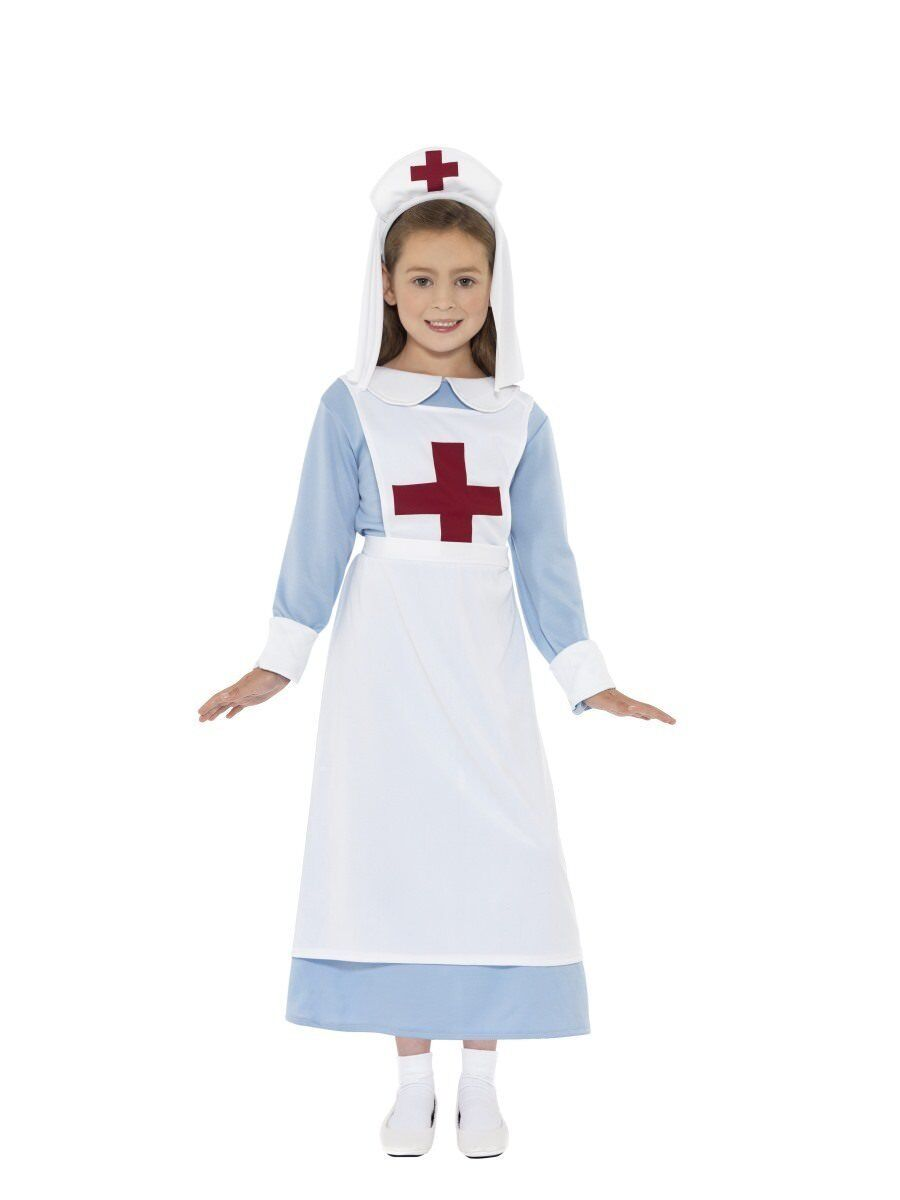 Smiffys WW1 World War 1 Nurse First Aid Child Girls Halloween Costume 44026