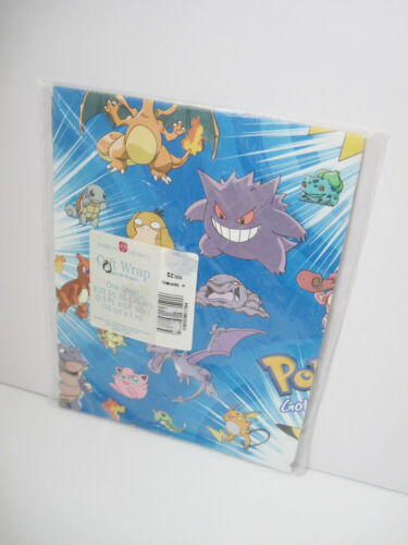 One(1) Pokemon Gift Wrap 8.33 Sq Ft *Design D* Gift Wrapping Paper Sheet