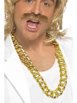 Mr.T Chunky Gold Halskette Damen Herren Kostüm Zubehör - Herr T Ketten Kostüm