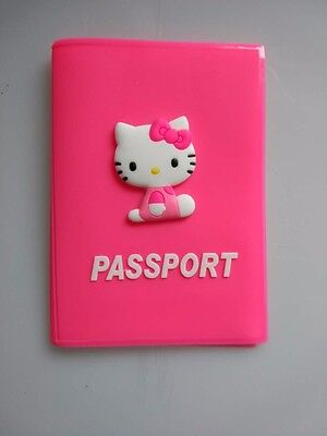 brand new hello kitty passport cover holder case rose color