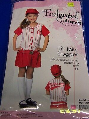 3 pc. Lil' Miss Slugger Baseball Player Red Dress Up Halloween Child Costume - Kid Baseball Player Halloween Costumes