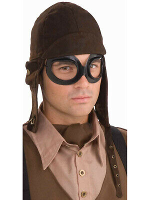 Steampunk Costume Brown Aviator Hat and Goggles Set](Aviator Goggles And Hat)