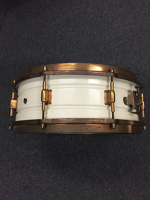 Vintage Leedy White Elite Snare Drum 1920's $1449.99