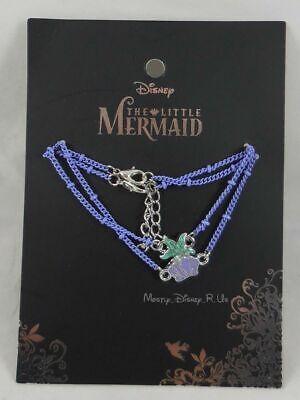 Disney die Kleine Meerjungfrau Ariel Muschel Seestern Charm Lila Kettenarmband ()