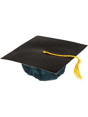 Kids Black Graduation Graduate Grad Cap Hat With Tassel Costume Accessory - Black Graduation Cap