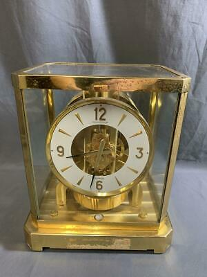 Vintage Jaeger Le Coultre Atmos Clock Brass Shelf Mantle 528-8