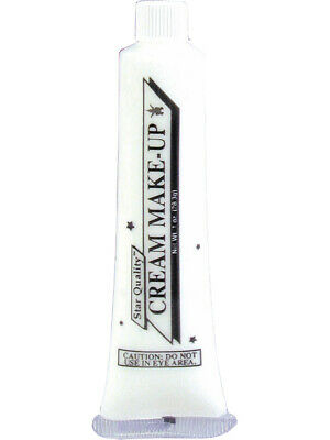 Deluxe White 1 Ounce Tube Halloween Costume Cream Make-Up](White Cream Makeup Halloween)