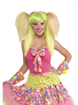 Adult Green and Pink Circus Sweetie Lollipop Lily Costume Ponytail Wig](Pink And Green Lollipops)