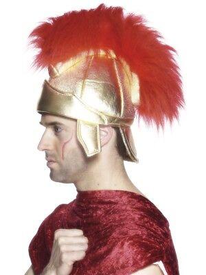 Römisch Soldaten Helm Herren Gold Mohican Krieger Gladiator Kostüm (Römischer Soldaten Helm)