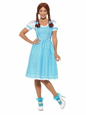 Smiffys Kansas Country Girl Dorothy Dress Adult Womens Halloween Costume 47301](Country Girl Halloween Costumes)