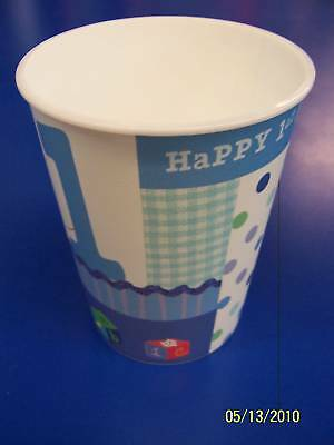 Baby Blue Plastic Cup (Baby Boy's 1st Birthday Party Blue 16 oz. Plastic Cup )