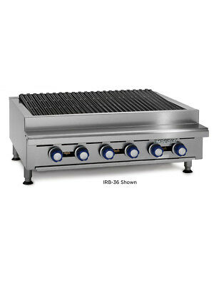 Imperial Range Irb-24 24 Commercial Gas Radiant Char Broiler Grill Counter Top