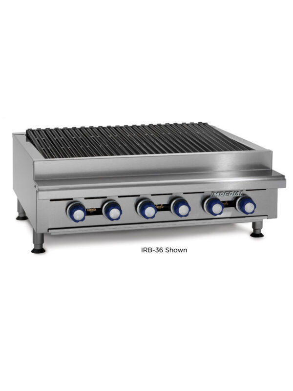 """Imperial Range Irb-24 24"""" Commercial Gas Radiant Char Broiler Grill Counter Top"""