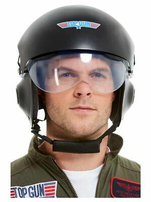 Men's Top Gun Helmet Pilot Maverick Fancy Dress Costume Tom Cruise Stag Theme Do