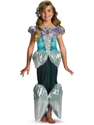 Child Deluxe Disney The Little Mermaid Princess Ariel Shimmer Costume - Disney Deluxe Costumes