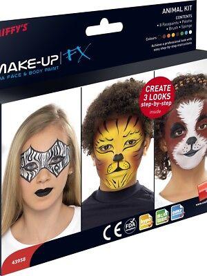 Tier Make Up Kit für Erwachsene & Kinder Tiere Kostüm Make-Up ()