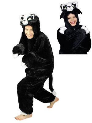 Kostüm für Erwachsene Overall Katze Schwarz Karneval Kostüm