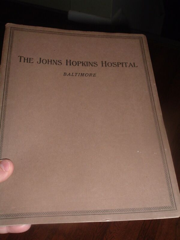 Johns Hopkins Hospital Book for Trustees / reports  , 1920 , Baltimore