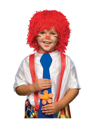 Unisize Adult or Child Short Red Rag Doll Raggedy Andy Costume Yarn Wig