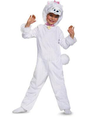 Girl's Deluxe Secret Life Of Pets Gidget Dog Pomeranian Costume Toddler 3T-4T