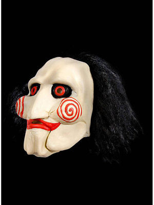 Maske Saw Halloween Grusel Film Karneval Kostüm Psycho Horror ()