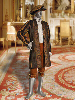 Baroque Costume Men (Baroque or Renaissance Style Royal Frock Coat in Baroque Damask)