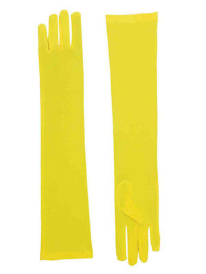 Yellow Costume Gloves (Adult Yellow Opera Super Hero Costume Formal Elbow Length Long Dress)