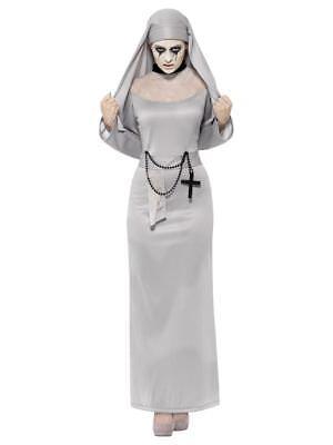 Erwachsene Damen Gothik Nonne Schwester unheimlich Mary Geist Halloween Kostüm