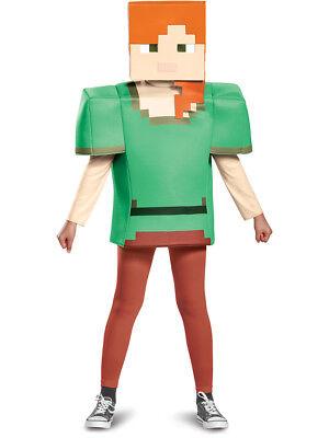 Child's Girls Classic Minecraft Alex Mine Craft Mojang Costume - Minecraft Girl Costumes