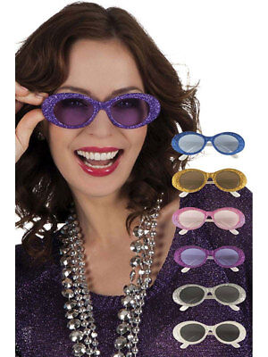Partybrille Glitter bunt Silvester Brille Fasching