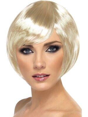 Blond Babe Perücke Damen Kostüm Glamourös Perücke Kurzer Bob ()