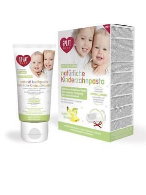 Baby Zahnpasta Apfel Banane für Kinder 0-3 mit Silikon- Putzstab 40ml