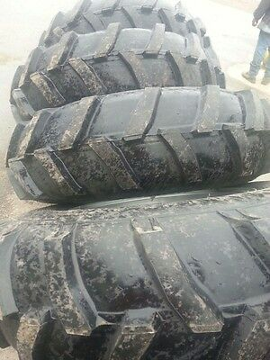 Four 14.9x24 Ap John Deere Ford 6 Ply Mud Truck Tractor Tires On Wheels