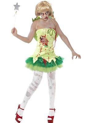 Zombie Fairy Ladies Halloween Horror Fancy Dress Costume Sizes medium