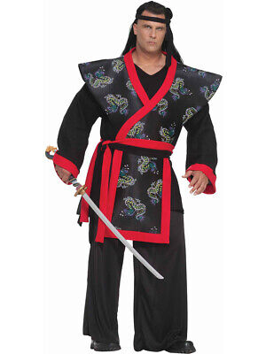 Men's Plus Size XXXL Size 58 Samurai Warrior Costume - Samurai Warrior Costume