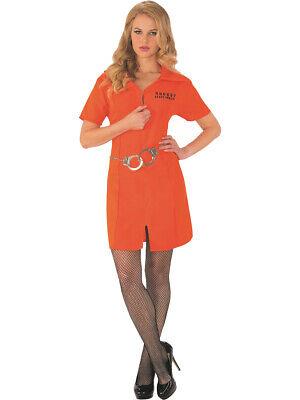 Women's State Penitentiary Prison Convict Dress Costume](Womens Convict Costume)